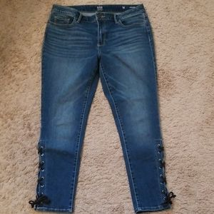 A.n.a. Lace up Ankle Jeans